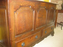 18th C Oak Mule Chest   SOLD
