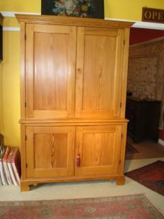 18th C American Pine Cupboard   SOLD