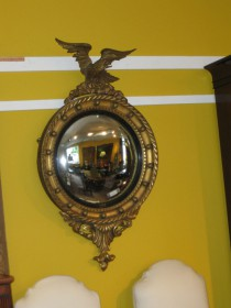 19th C Regency Style Convex Mirror