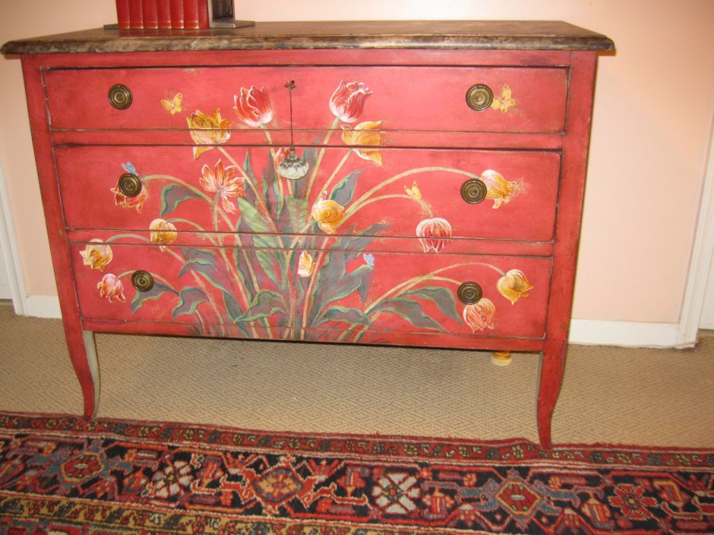 hand painted chest of drawers sold