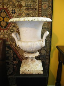 Painted White Urn