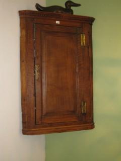 Mid 19th C Oak Corner Cupboard