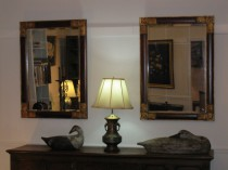 Pair of Beveled Glass Mirrors SOLD