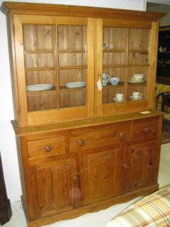 19th C English Pine Cupboard