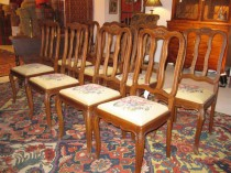 Set of 8 French Country Chairs