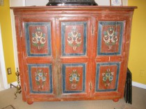 Early 19th c Painted Cupboard   SOLD