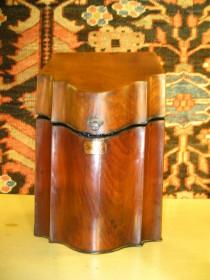19th c Mahogany Knife Box