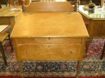 19th c  American Pine Plantation Desk