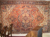 19th c Persian Heriz  9.9 x 14.2   SOLD