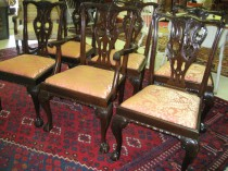 Set of 6 Chippendale-Style Dining Chairs