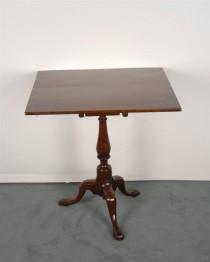19th c Birdcage Tilt-top Tea Table