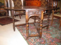 mid 19th c Oak Gateleg