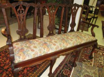 3 Seat Chippendale-Style Settee
