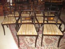 Set of 10 Mahogany Regency Chairs