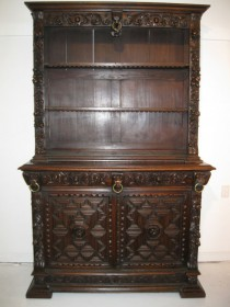 18th c Carved Oak Cupboard