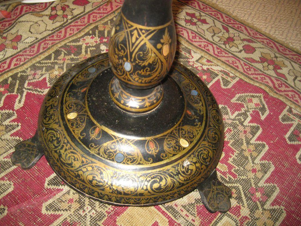 Victorian Papier Mache Tilt Top Table