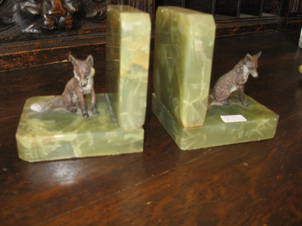 Cold Paint Bronze Fox Book Ends