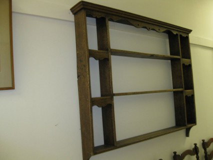 & 19th c English Hanging Plate Rack
