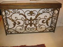 Iron and Glass Console