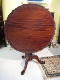 Large Mahogany Tilt-Top Tea Table
