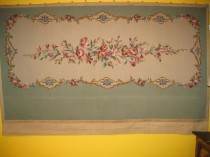 Antique English Needlepoint  4 x 7.2