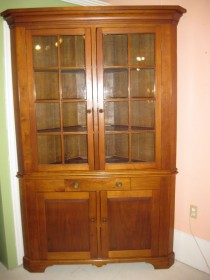 19th cCherry Corner Cupboard    SOLD