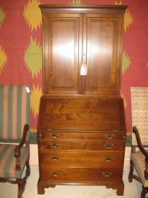 Walnut Chippendale-Style Secretary
