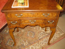 Queen-Anne Style Elm Lowboy SOLD