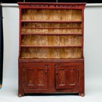 18th c American Painted Cupboard
