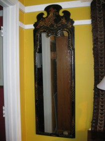 19th c Chinosierie Queen-Anne Style Mirror