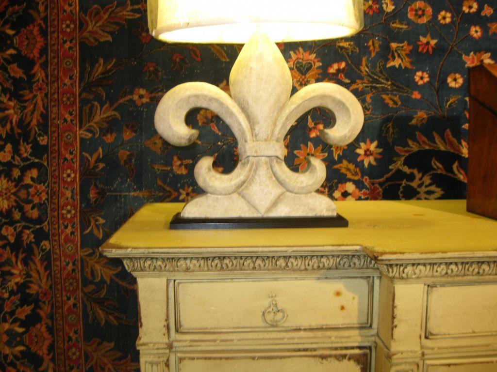 Pair Of Fleur De Lis Lamps SOLD