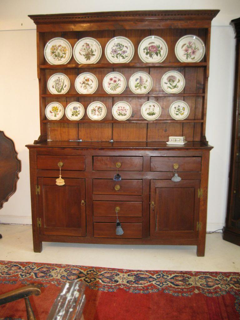 19th c Walnut Welsh Dresser