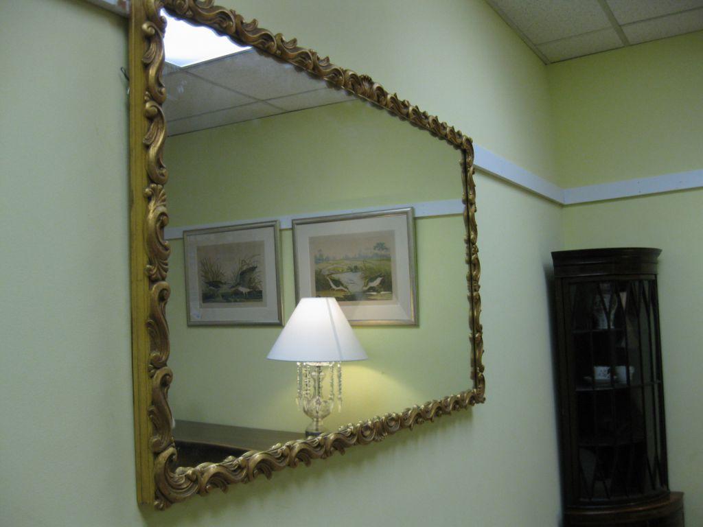 Large Gilt-Framed Mirror SOLD