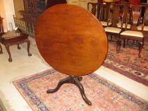 18th c Mahogany Tilt Top Table