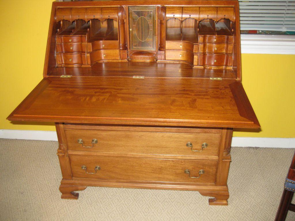 Chippendale-Style Slant Front Desk - Style Slant Front Desk