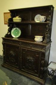 18th c German Rococo Oak Buffet