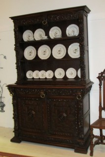 18th c German Rococo Oak Cupboard SOLD