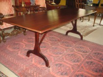 Shaker-Style Trestle Table  SOLD