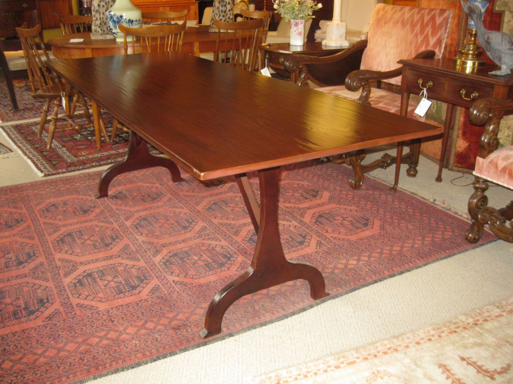 Shaker Style Trestle Table SOLD. Style Trestle Table SOLD