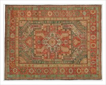 19th c Oushak  10.6 x 13.4   SOLD