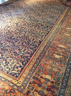 19th c Persian Sultanabad  13.11 x 16.8       SOLD