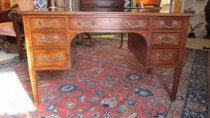 E 20th c Smith & Watson Leather top Desk    SOLD