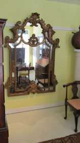 19th c French Giltwood Mirror   SOLD