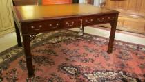 Leather top Partners Desk