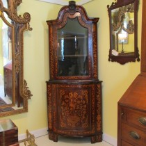 18th c Dutch Corner Cupboard