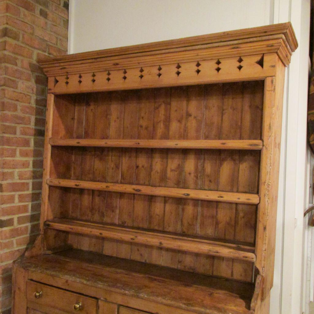 Dark Wood Welsh Dresser: Welsh Pine Dresser