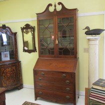 18th c American Chippendale Desk and Bookcase SOLD