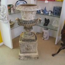 Garden Urn on Pedestal SOLD