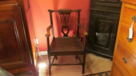 18th c English Oak Armchair