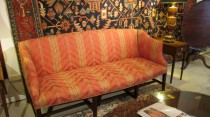 Upholstered Chippendale-Style Sofa
